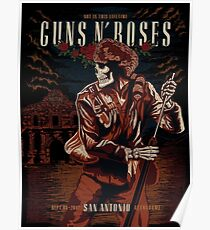 Guns N' Roses, Sept 08, 2017 San Antonio Alamodome Poster