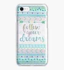 Follow Your Dreams-aqua iPhone Case/Skin