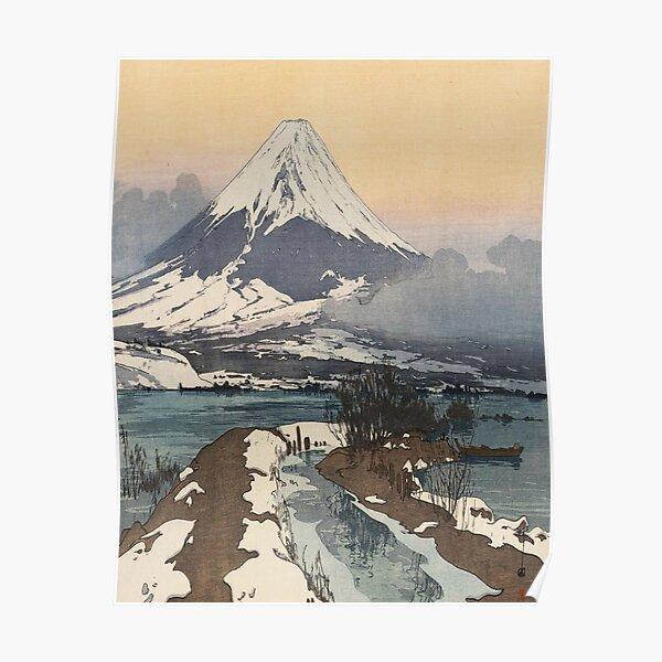 Fuji from Kawaguchiko Lake by Hiroshi Yoshida Poster