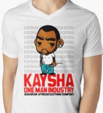 Kaysha : One man industry Mens V-Neck T-Shirt