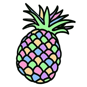 Pastel Pineapple Design by MiaNotMaya