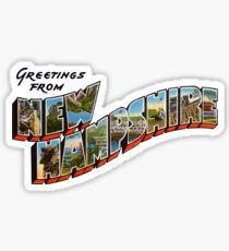 Greetings from New Hampshire 1 Sticker