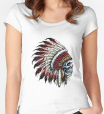 Indian Skull Women's Fitted Scoop T-Shirt