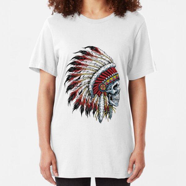Indian Skull Slim Fit T-Shirt