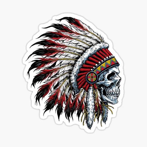 Indian Skull Sticker
