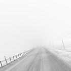 The Road Downhill - Black and White by azbulutlu