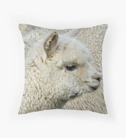 Little Alpaca Throw Pillow