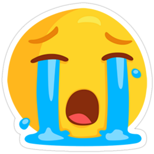Loudly Crying With Tears Face Emoji Stickers By GregGgggg