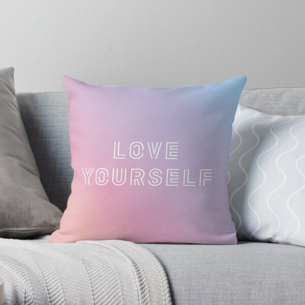 BTS LOVE YOURSELF PASTEL Throw Pillow