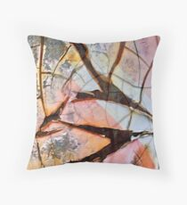 Color Fractures II Throw Pillow