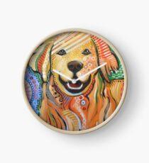 Original Modern Golden Retriever dog art painting / Max Clock
