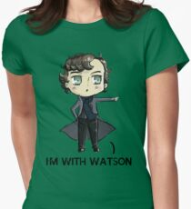 """I'm With Watson"" Womens Fitted T-Shirt"