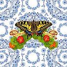 Old World Swallowtail Blue Rhapsody by PatriciaSheaArt