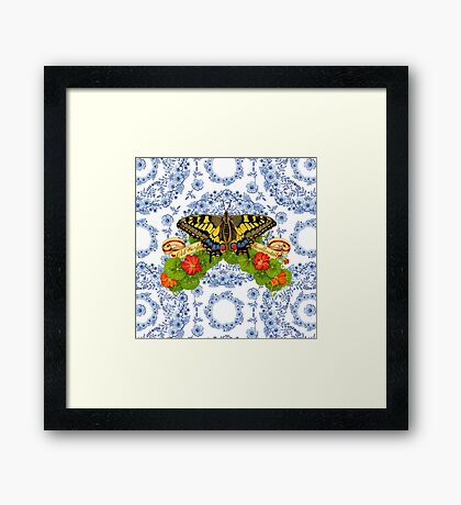 Old World Swallowtail Blue Rhapsody Framed Print
