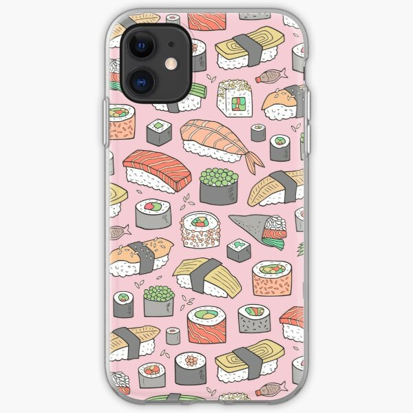 Sushi on Pink iPhone Soft Case