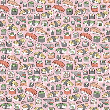 Sushi on Pink by CajaDesign