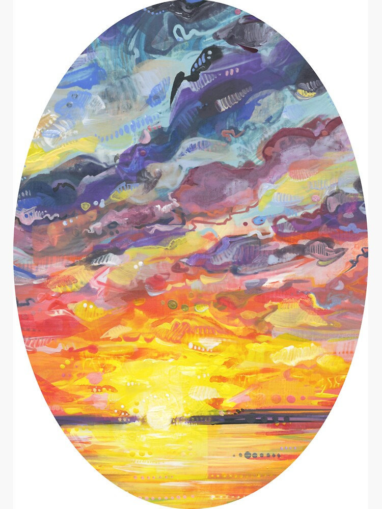 Sunset Painting (Understanding) - 2017 by gwennpaints
