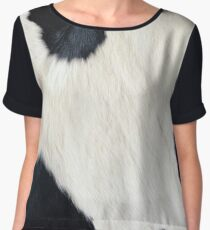Cowhide Black and white Women's Chiffon Top