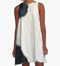 Cowhide Black and white A-Line Dress