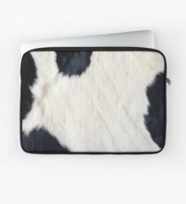 Cowhide Black and white Laptop Sleeve