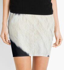 Cowhide Black and white Mini Skirt