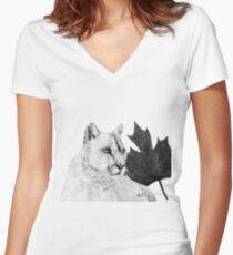Canadian Cougar Women's Fitted V-Neck T-Shirt