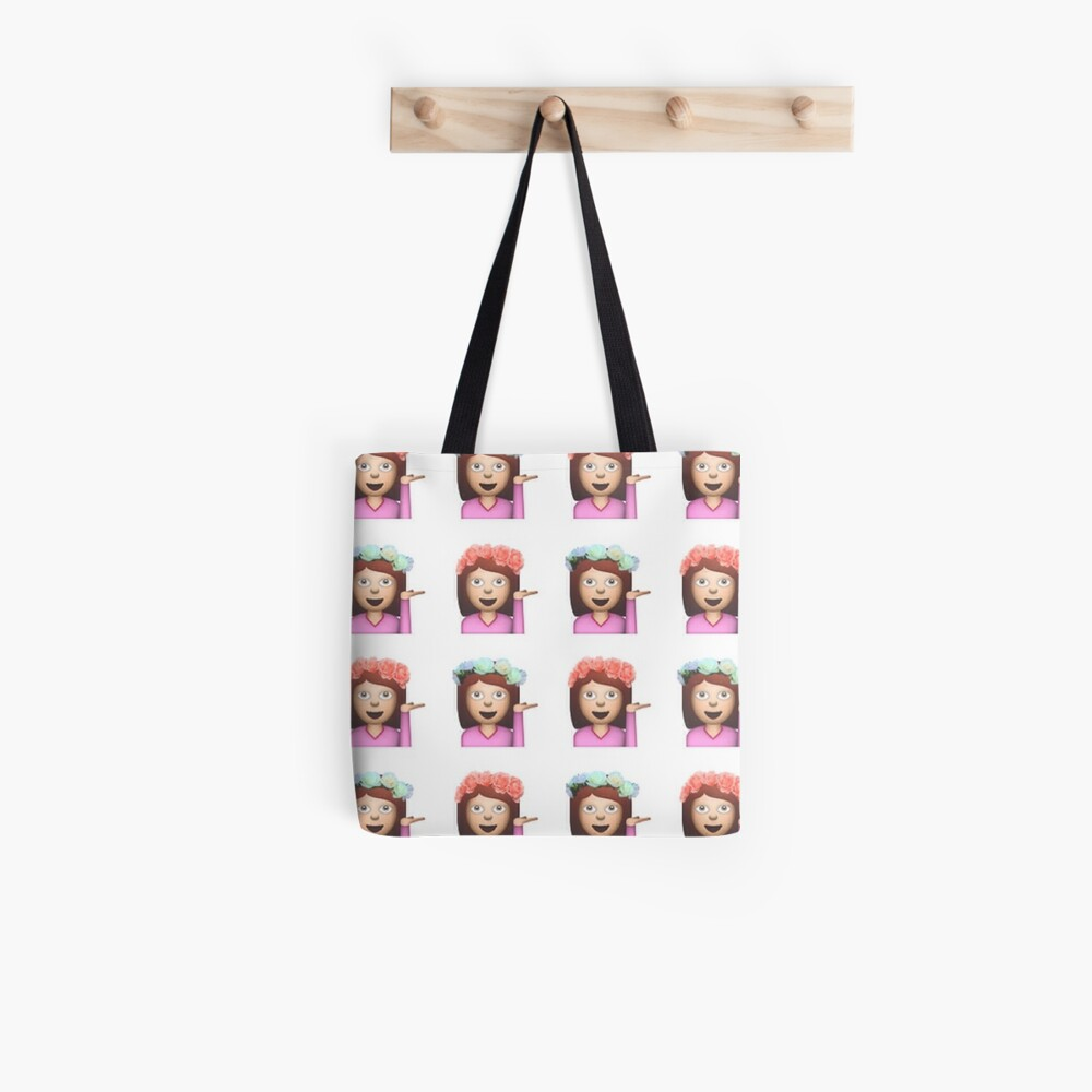 Sassy Hula Mädchen Emoji Muster Stofftasche
