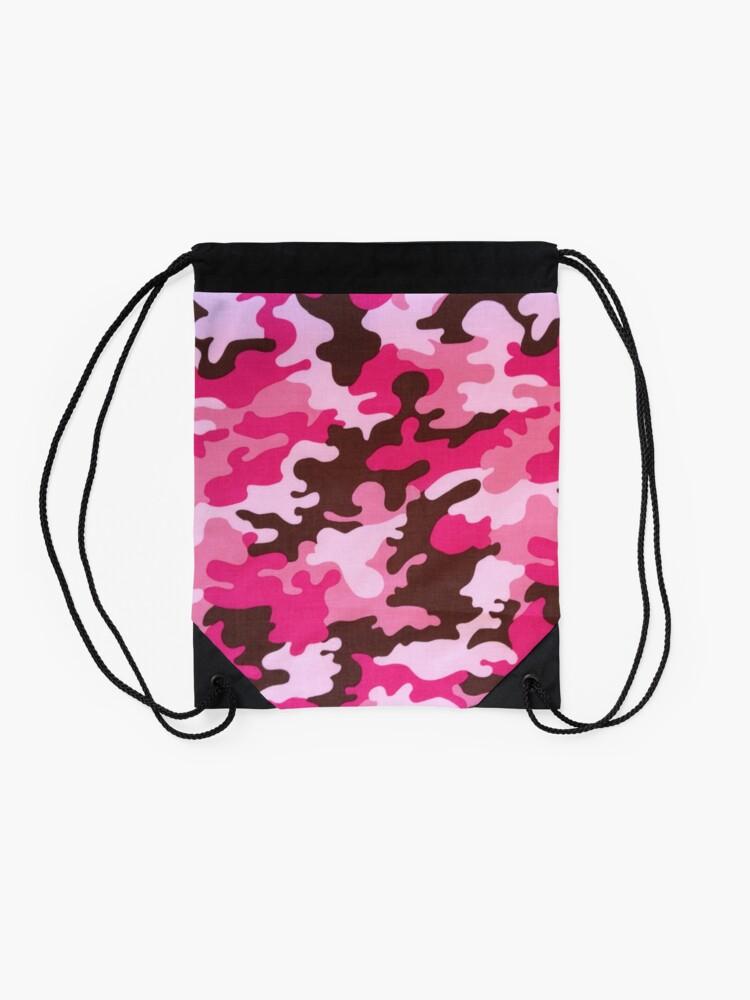 Alternate view of Pink Camo Drawstring Bag