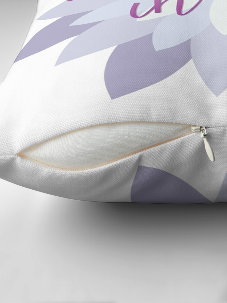 Alternate view of Namast'ay in bed - Purple Throw Pillow