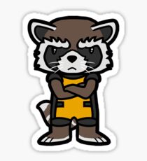 Angry Raccoon Sticker