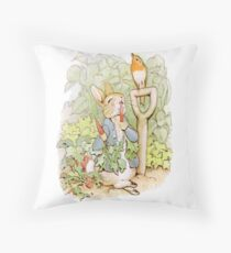 PETER RABBIT, Nursery Characters, Peter Rabbit, eating radishes, The Tale of Peter Rabbit Floor Pillow