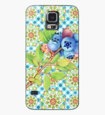 Maine Blueberry Gingham Mandala Case/Skin for Samsung Galaxy