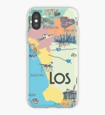 Los Angeles - Map iPhone Case