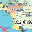 Los Angeles - Karte by artshop77
