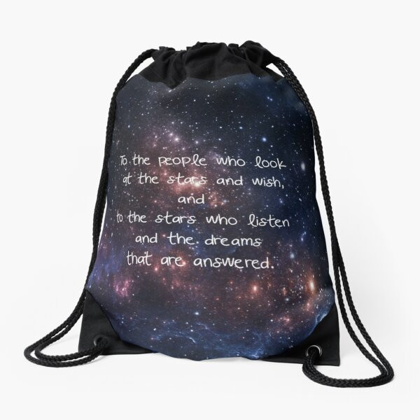 The stars who listen. Drawstring Bag