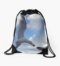 Majestic Seagull | The Chocolate Robbery  Drawstring Bag