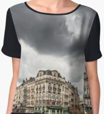 Editorial: 16th April 2017: Brussels, Belgium. Old architecture of the capital. Women's Chiffon Top