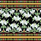 Elizabethan Lily Folkloric Stripe by PatriciaSheaArt