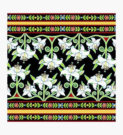 Elizabethan Lily Folkloric Stripe Photographic Print