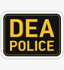 DEA Police Sticker
