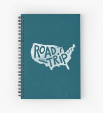 Road Trip USA - blue Spiral Notebook