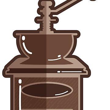 Antique cute coffee grinder  by jcweaverart