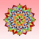 Manchester Mandala on Pink by PatriciaSheaArt