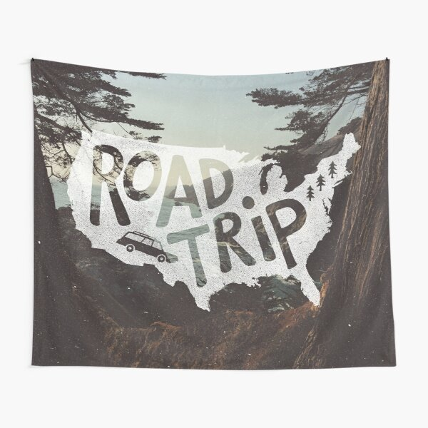 Road Trip USA Tapestry