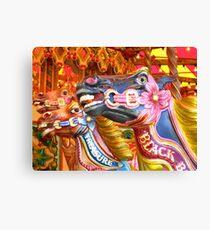 Victorian Carousel York UK Bursting colours Canvas Print