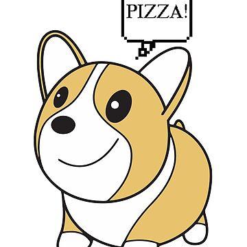 Corgi - Pizza by TeeGrayWolf
