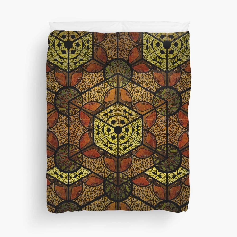 Sacred Geometry TerraCube Duvet Cover
