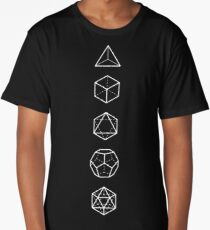 PLATONIC SOLIDS - COSMIC ALIGNMENT  Long T-Shirt