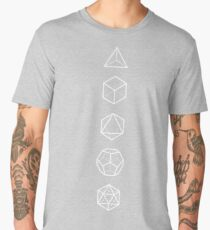 PLATONIC SOLIDS - COSMIC ALIGNMENT  Men's Premium T-Shirt