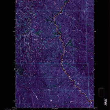 USGS TOPO Map Idaho ID Clarke Mountain 235696 1994 24000 Inverted by wetdryvac